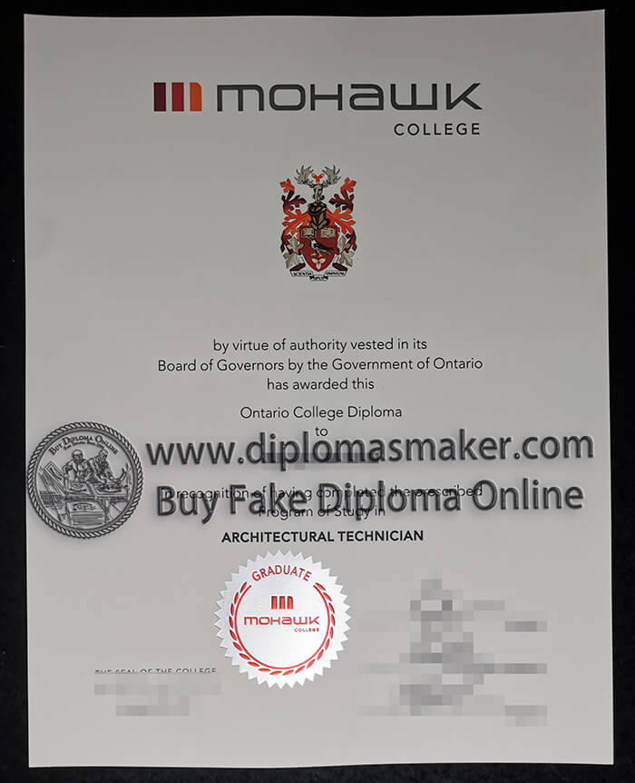 How much can I buy fake diplomas from Mohawk College?