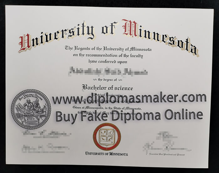 buy fake University of Minnesota diploma