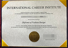 Buy fake International Career Institute diploma.