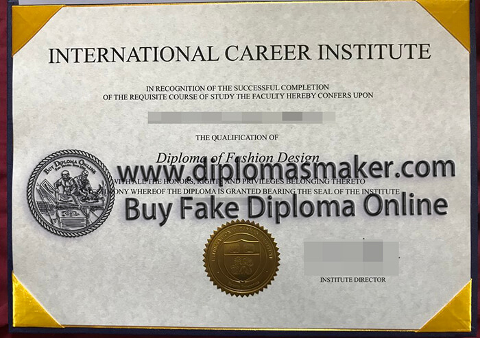buy fake International Career Institute diploma