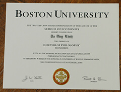 Can I buy a diploma from Boston University online?
