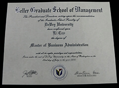 DeVry University | Keller School of Management Falsified Certificate Provided by Seattle