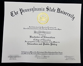 Quickly order Pennsylvania State University fake diploma.