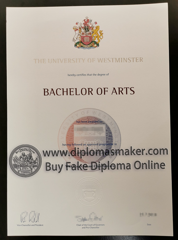University of Westminster diploma