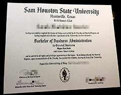 Purchased a fake certificate from Sam Houston State University and applied for a job. Great.