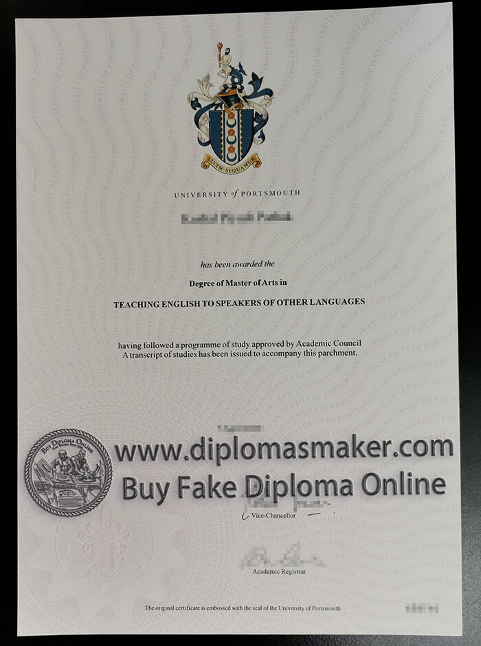 how to buy fake University of Portsmouth diploma