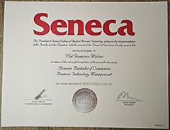 Where can I buy the new version of the Seneca university diploma certificate?