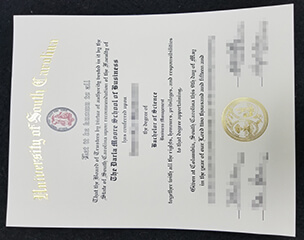 Buy fake University of South Carolina diploma.