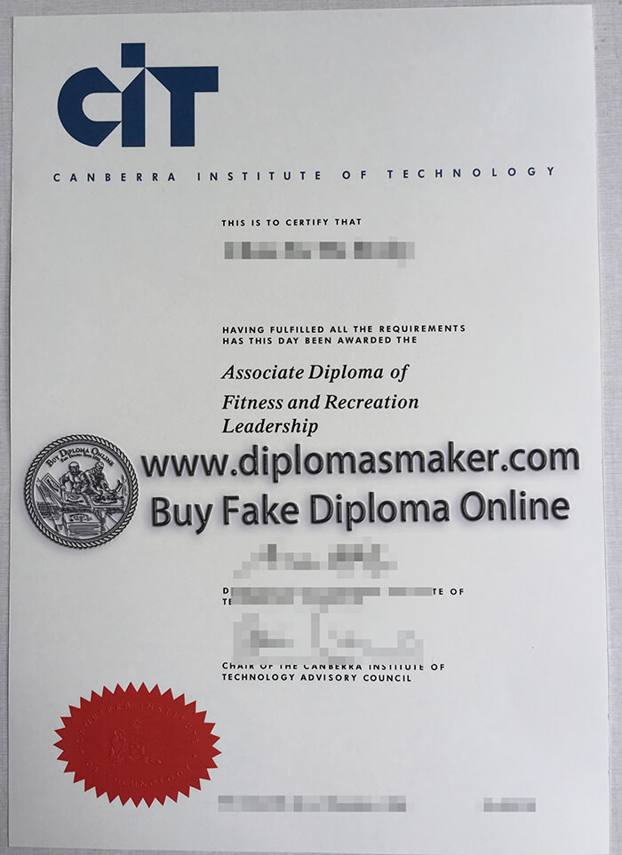 buy fake Canberra Institute of Technology (CIT) diploma