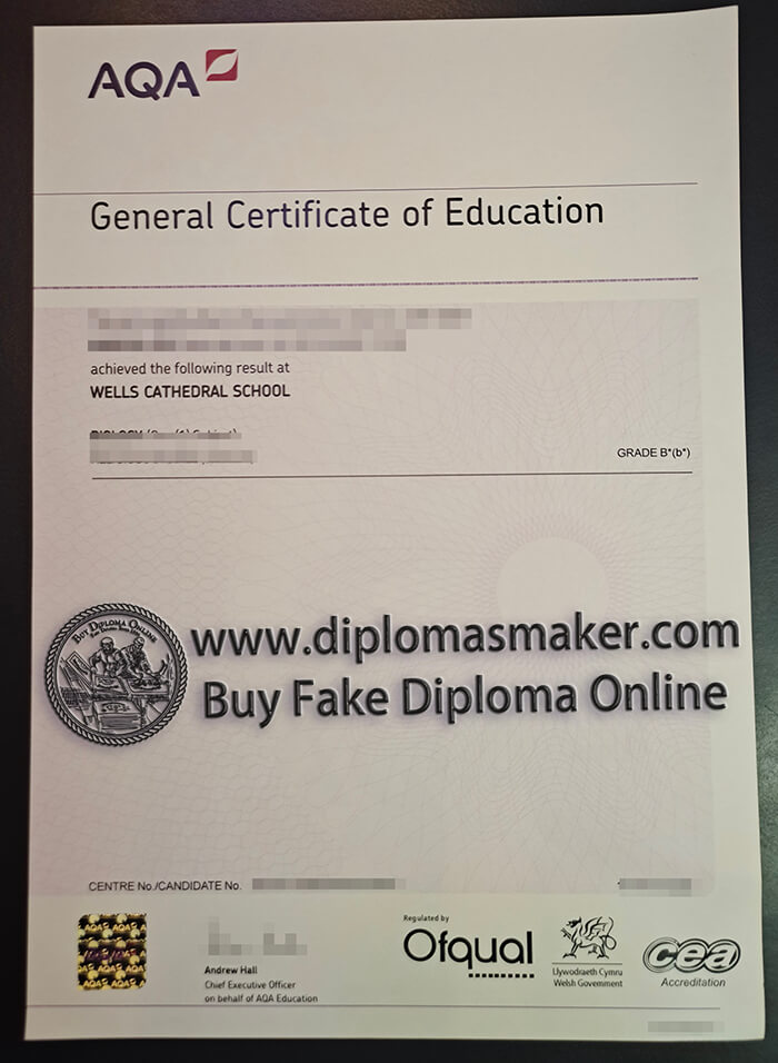 Where can I buy the British AQA certificate?