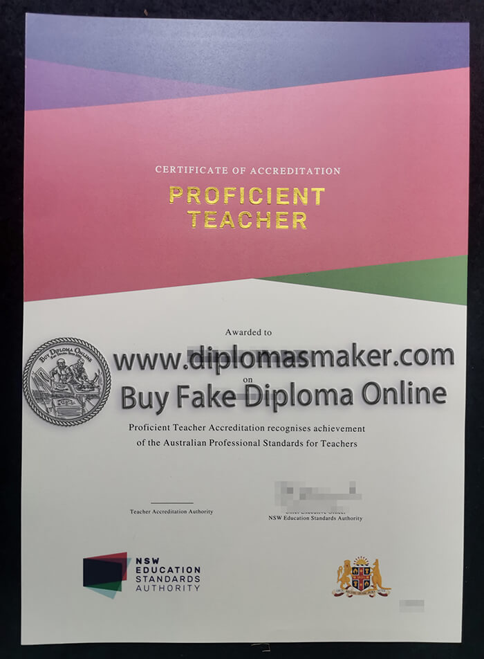 how to buy a fake proficient teacher certificate?