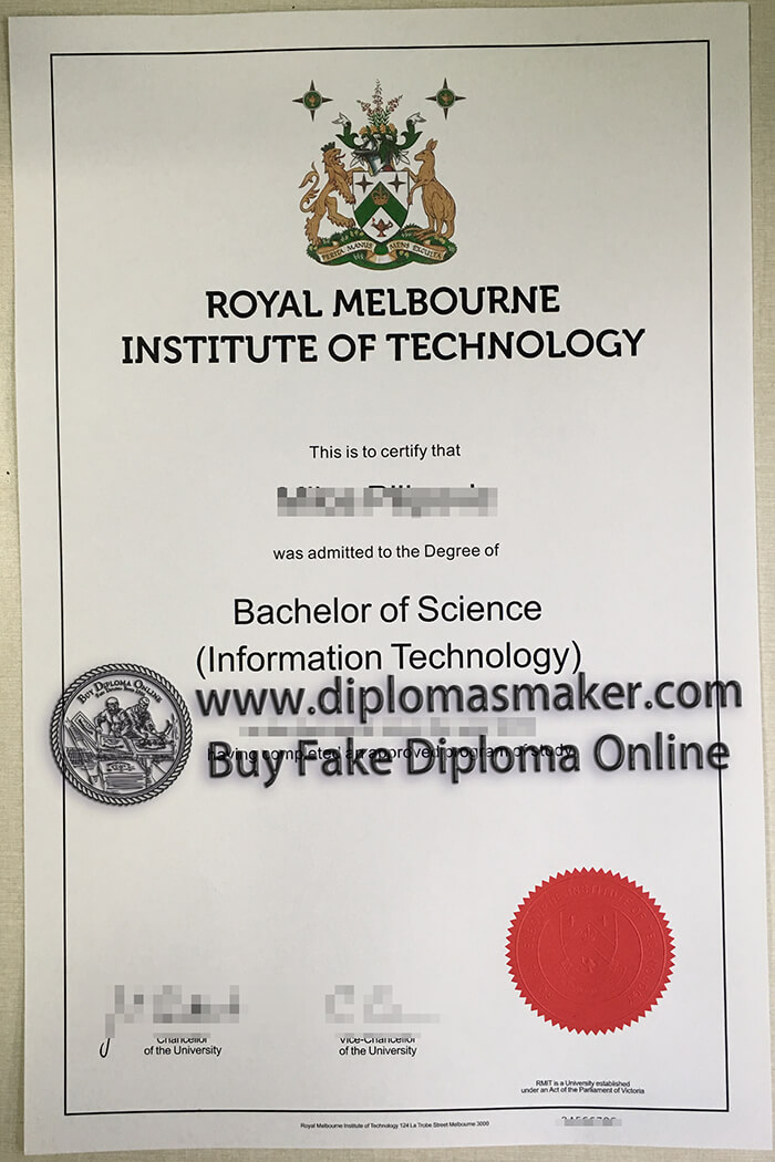 buy fake Royal Melbourne Institute of Technology diploma