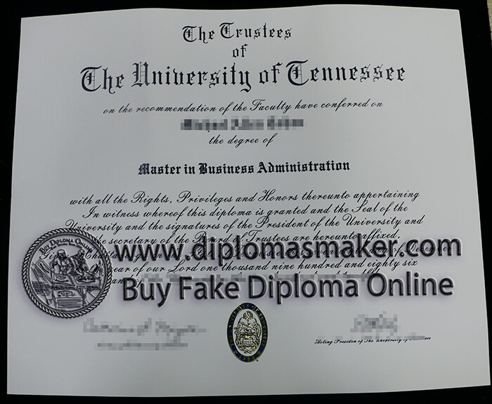 buy fake University of Tennessee diploma