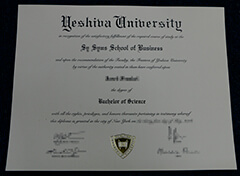 Buy fake Yeshiva University diploma online.