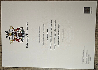 How much can I buy a University of Hertfordshire degree certificate?