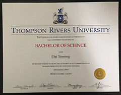 How much does it cost to buy a Thompson Rivers University diploma online?