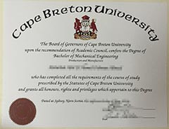 How much can I spend online to buy a Cape Breton University diploma?