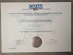 Where to buy a fake CEFAM certificate?