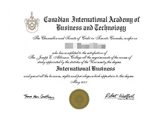 Buy fake Canadian International Academy of Business and Technology diploma.