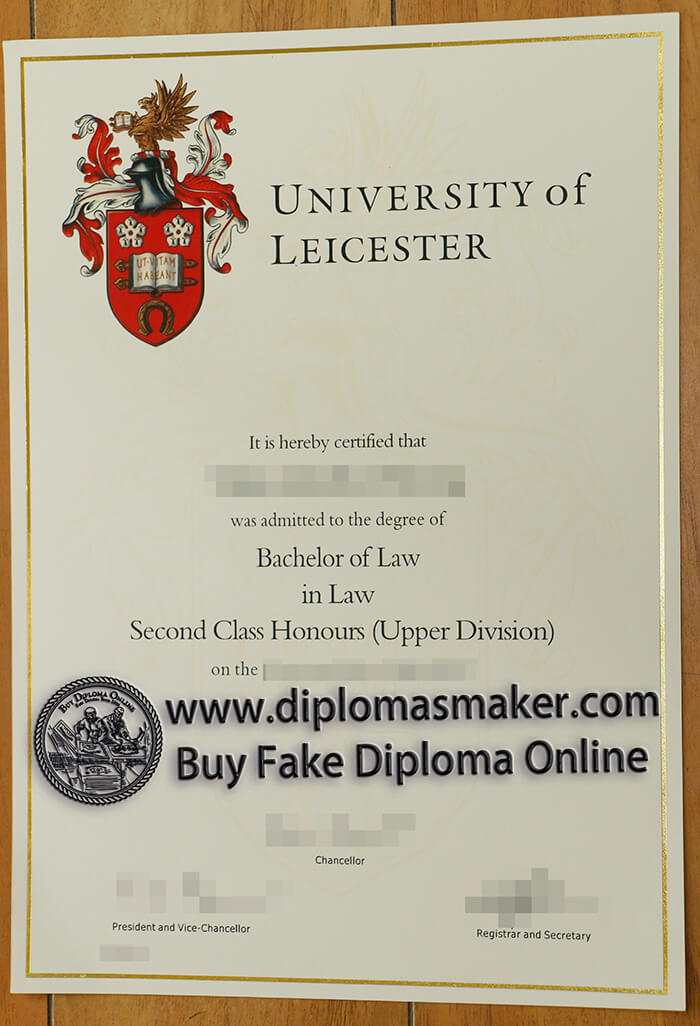 buy fake University of Leicester diploma